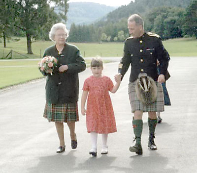 Queen Elizabeth and Jim Motherwell