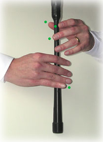 bagpipe finger chart high-A common