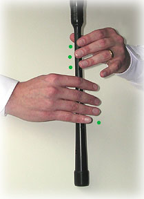 bagpipe finger chart high-G common